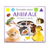 Sa invatam despre animale. Set educativ cu puzzle - Holly Price, Ellie Boultwood, editura Litera