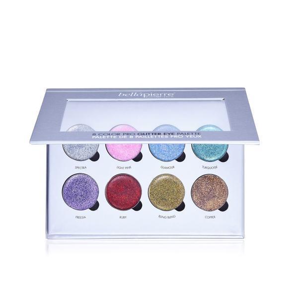 Paleta 8 sclipici Pro Glitter Palette - BellaPierre imagine produs