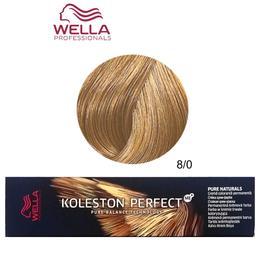 Vopsea Crema Permanenta – Wella Professionals Koleston Perfect ME+ Pure Naturals, nuanta 8/0 Blond Deschis Natural de la esteto.ro