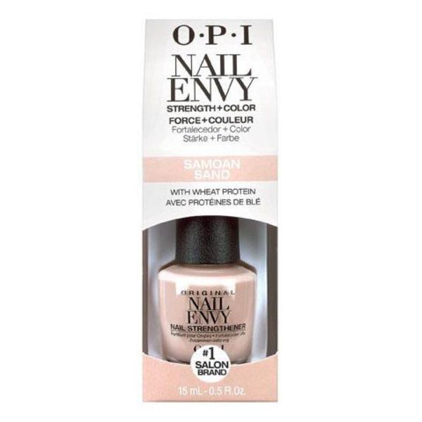 Tratament pentru Intarirea Unghiei si Culoare - OPI Nail Envy Strength + Color, Samoan Sand, 15ml imagine produs