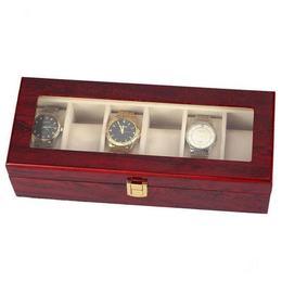 Cutie caseta din lemn Pufo pentru depozitare si organizare 6 ceasuri, model Premium