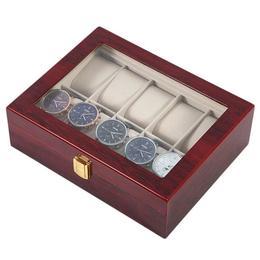 Cutie caseta din lemn pentru depozitare si organizare Pufo, pentru 10 ceasuri, model Premium