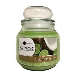 Lumanare Parfumata Coconuts & Lime, Mia Bella's, 454 g