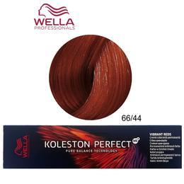 Vopsea Crema Permanenta - Wella Professionals Koleston Perfect ME+ Vibrant Reds, nuanta 66/44 Blond Inchis Rosu Intens