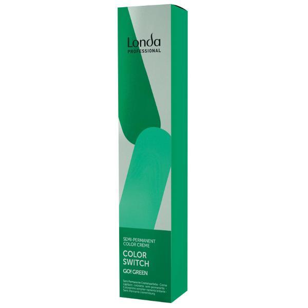 Vopsea Semi-Permanenta - Londa Professional Color Switch Semi-Permanent Color Creme, Go! Green, 80ml imagine