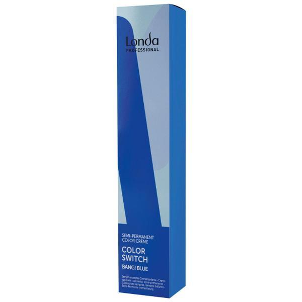 Vopsea Semi-Permanenta - Londa Professional Color Switch Semi-Permanent Color Creme, Bang! Blue, 80ml imagine