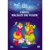 Ursul pacalit de vulpe. Carte de colorat, editura Eurobookids