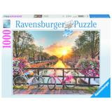 Puzzle biciclete in amsterdam, 1000 piese - Ravensburger