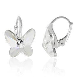 Cercei Fluturasi Leverback Crystal