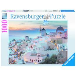 Puzzle noaptea in santorini, 1000 piese - Ravensburger