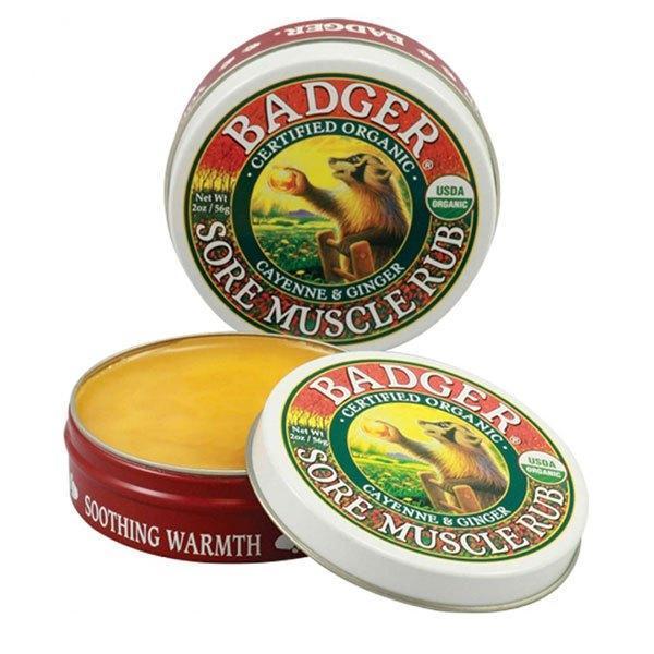 Crema / Mini balsam masaj dureri musculare cu ardei Badger Cayenne si ghimbir 21g imagine produs