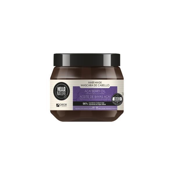 Masca BIO Hello Nature cu ulei de afine pentru mentinerea culorii, anti-imbatranire, hidratare, restructurare si intarirea firului de par 250 ml