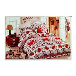 Lenjerie de pat finet cu trandafiri 6 piese - Pucioasa
