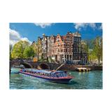 Puzzle turul canalului in amsterdam, 1000 piese - Ravensburger