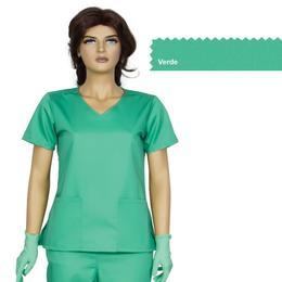Bluza Dama Guler V Modern Cambrata Prima, verde, tercot, marime L (46-48)