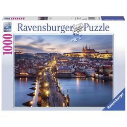 Puzzle praga noaptea, 1000 piese - Ravensburger