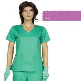 Bluza Dama Guler V Modern Cambrata Prima, lila, tercot, marime XL (50-52)