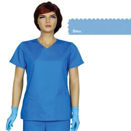 Bluza Dama Guler V Trend Cambrata Prima, bleu, tercot, marime M (42-44)