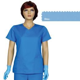 Bluza Dama Guler V Trend Cambrata Prima, bleu, tercot, marime L (46-48)