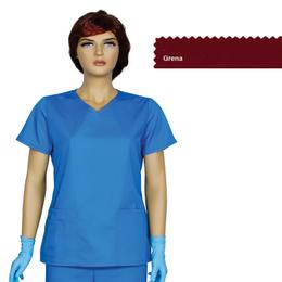 Bluza Dama Guler V Trend Cambrata Prima, grena, tercot, marime L (46-48)