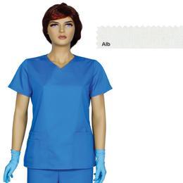 Bluza Dama Guler V Trend Cambrata Prima, alb, tercot, marime XS (34-36)