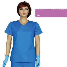 Bluza Dama Guler V Trend Cambrata Prima, lila, tercot, marime L (46-48)