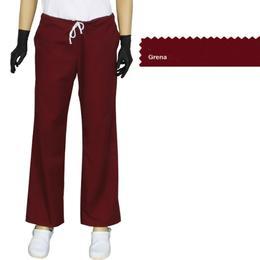 Pantalon Dama Modern Prima, grena, tercot, marime S (38-40)