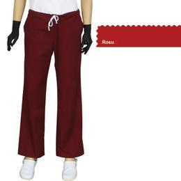 Pantalon Dama Modern Prima, rosu, tercot, marime XS (34-36)