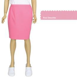 Fusta Femei Prima, roz deschis, tercot, marime XL (50-52)
