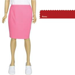 Fusta Femei Prima, rosu, tercot, marime L (46-48)