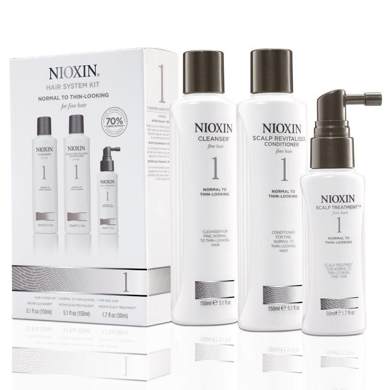 Nioxin - Pachet Complet System 1 Pentru Par Fin, Normal Cu Tendinta De Rarefiere