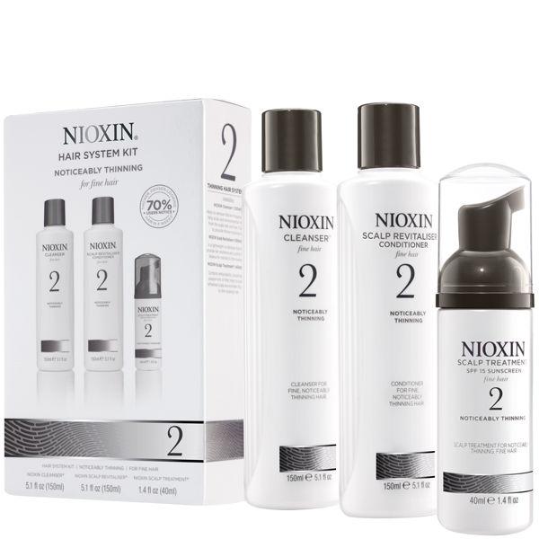 Nioxin - Pachet complet System 2 pentru par fin, normal cu tendinta dramatica de subtiere, cadere si rarefiere imagine produs