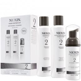 Nioxin - Pachet complet System 2 pentru par fin, normal cu tendinta dramatica de subtiere, cadere si rarefiere