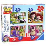 Puzzle disney toy story, 4 buc in cutie, 12/16/20/24 piese - Ravensburger