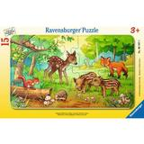 Puzzle animale in padure, 15 piese - Ravensburger
