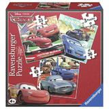 Puzzle cars, 3 buc in cutie, 25 / 36 / 49 piese - Ravensburger