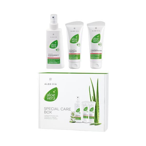 Caseta - creme hidratante (crama propolis 100 ml + concentrat aloe vera 100 ml + spray aloe vera 150 ml ) - Lr Health & Beauty imagine produs