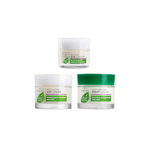Set Cadou De îngrijire Intensiva Aloe Vera ( Crema Zi 50 Ml + Crema Noapte 50 Ml + Crema Ochi 15 Ml ) - Lr Health & Beauty