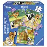 Puzzle bambi, 3 buc in cutie, 25 / 36 / 49 piese - Ravensburger