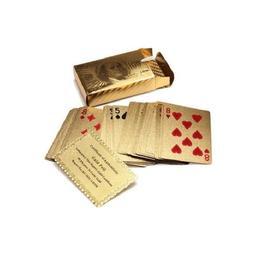 Carti de joc imbracate in aur 24K - Play&Go
