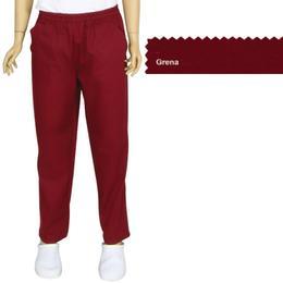 Pantalon Unisex Prima, tercot, grena, marime L (46-48)
