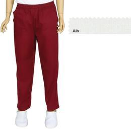 Pantalon Unisex Prima, tercot, alb, marime XS (34-36)