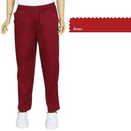 Pantalon Unisex Prima, tercot, rosu, marime S (38-40)