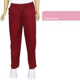 Pantalon Unisex Prima, tercot, roz deschis, marime L (46-48)
