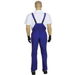 Pantalon de Lucru Unisex cu Pieptar Prima, tercot, albastru inchis, marime XS (34-36)