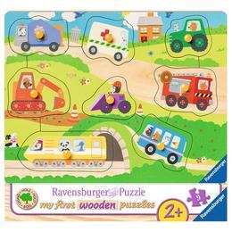 Puzzle din lemn cu vehicule, 8 piese - Ravensburger