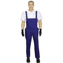 Pantalon de Lucru Unisex cu Pieptar Prima, bumbac, albastru inchis, marime M (42-44)