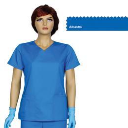 Bluza Dama Guler V Trend Cambrata Prima, albastru, tercot, marime XS (34-36)