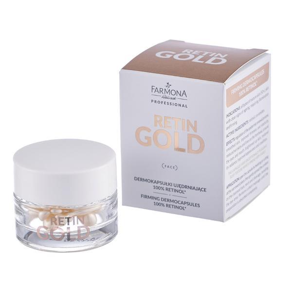 Dermocapsule pentru Fermitate cu 100% Retinol - Farmona Retin Gold Firming Capsules 100% Retinol, 15 buc imagine produs