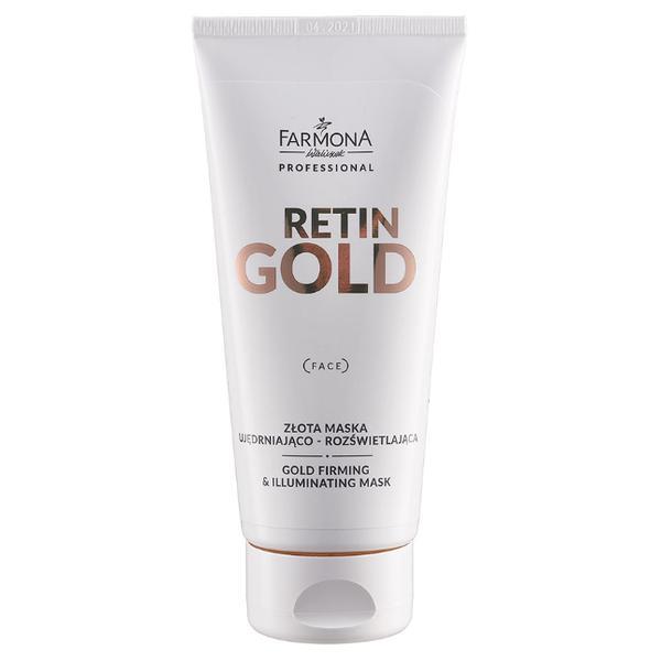 Masca cu Aur pentru Fermitate si Iluminare - Farmona Retin Gold Gold Firming & Illuminating Mask, 200ml imagine produs